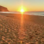 Sunrise Beach Seascape Poster