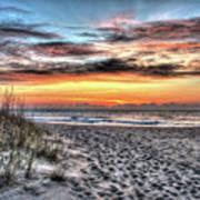 Sunrise Outer Banks Of North Carolina Seascape Poster