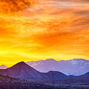 Sunrise Over Colorado Rocky Mountains Poster