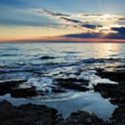 Sunset At Basanija Poster