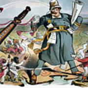 T. Roosevelt Cartoon Poster