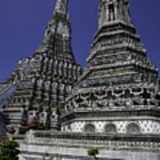 Temple Detail In Bangkok Thialand Poster