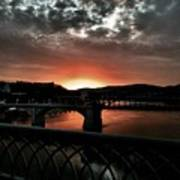 Tennessee River Sunset Poster