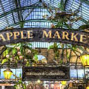 The Apple Market Covent Garden London Art Poster