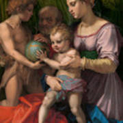 The Holy Family With The Young Saint John The Baptist Poster