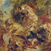 The Lion Hunt Poster