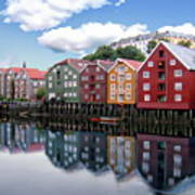 Trondheim Coastal View Poster