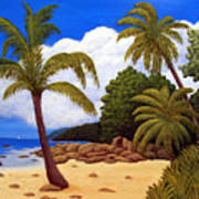 Tropical Island Beach Poster