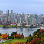Vancouver In Fall Poster