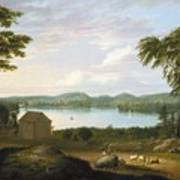 View Of Springfield On The Connecticut River Poster