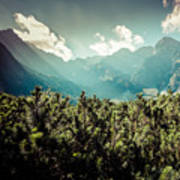View Of Tatra Mountains From Hiking Trail. Poland. Europe.  Poster