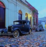 Vintage Cars In Colonia Del Sacramento, Uruguay Poster
