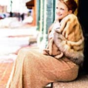 Vintage Val Winter Glam Poster