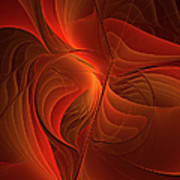 Warmth, Modern Abstract Fractal Art Poster