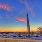 Washington Monument Sunset Poster