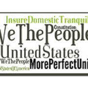 We The People Of The United States Of America Poster