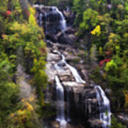Whitewater Falls In Nc Poster