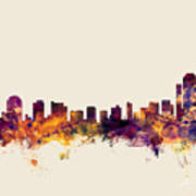 Wilmington Delaware Skyline Poster
