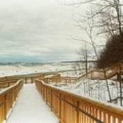 Winter Ice On Lake Michigan Poster