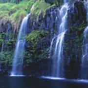 Woman At Waterfall Poster