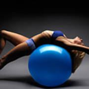 Woman On A Ball Poster