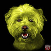 Yellow West Highland Terrier Mix - 8674 - Bb Poster