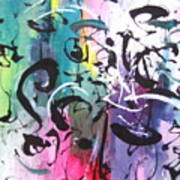 Abstract Calligraphy Poster