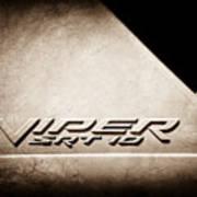 2006 Dodge Viper Srt 10 Emblem -0062s Poster