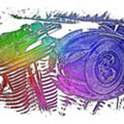 2007 Harley C 01 Cool Rainbow 3 Dimensional Poster