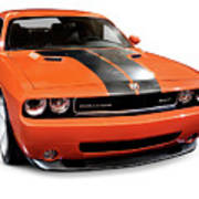 2008 Dodge Challenger Srt Muscle Car Poster