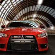 2008 Mitsubishi Lancer Evolution X Poster