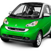 2008 Smart Fortwo City Car Poster