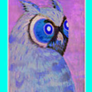 2009 Owl Negative Poster by Lilibeth Andre