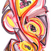 2010 Abstract Drawing Nine Poster