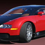 2010 Bugatti Veyron E. B. Sixteen Poster