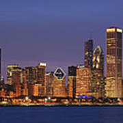 2010 Chicago Skyline Poster
