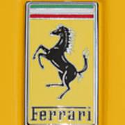 2012 Ferrari Hood Emblem Poster