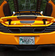 2012 Mc Laren Exhausts And Taillights Poster