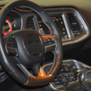 2015 Dodge Challenger Srt Hellcat Interior Poster