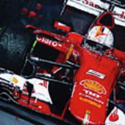 2015 F1 Ferrari Sf15-t Vettel Poster