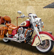 2015 Indian Chief Vintage Motorcycle - 1 Poster