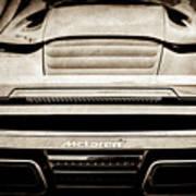 2015 Mclaren 650s Spider Rear Emblem -0011s Poster
