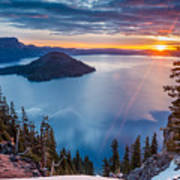 2015 Spring Sunrise From Discovery Point Poster