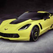 2016 Chevrolet Corvette Z06 Coupe Sports Car Poster