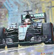 2016 Monaco Gp Mercedes Amg Petronas Hamilton  Poster