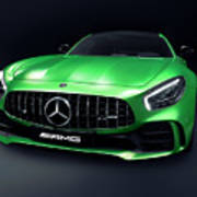 2017 Mercedes Amg Gt R Coupe Sports Car Poster