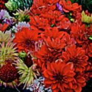 2017 Mid October Monona Farmers' Market Buckets Of Blossoms 1 Poster