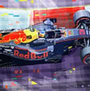 2017 Singapore Gp Red Bull Racing Ricciardo Poster