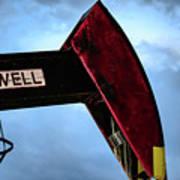 2017_09_midkiff Tx_oil Well Pump Jack Closeup 2 Poster
