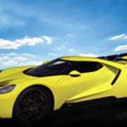 2018 Ford Gt At The Track Poster